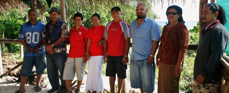 members of the 'Eua Ecotourism Association standing in the Hideaway resort