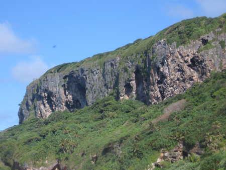Cliff 'Eua island