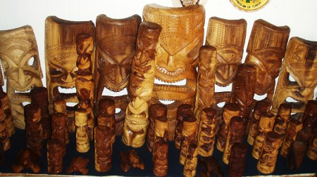 Wooden handi crafts, Tongan Gods