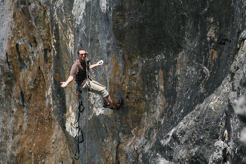 Rock climbing Eua island
